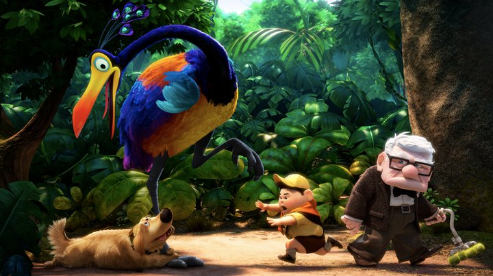 disney pixar up kevin. Dug the dog, Kevin the bird,