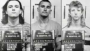 Echols, Misskelly and Baldwin mugshots